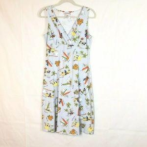 Disney M Dress Sleeveless Mickey Minnie Bungalow